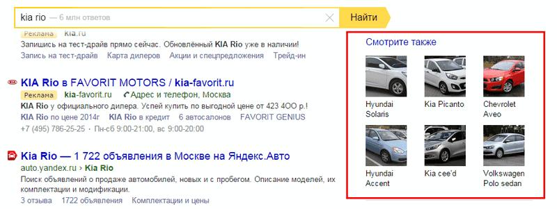 Что ищут в Яндексе вместе с KIA RIO