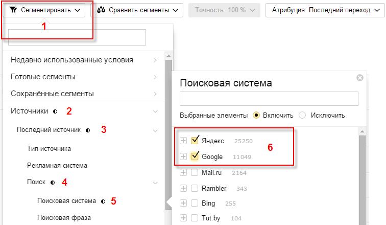 Делаем сегмент в Яндекс.Метрике
