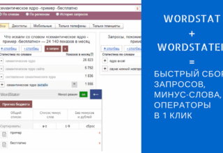 Wordstater — ассистент подбора слов в Вордстат